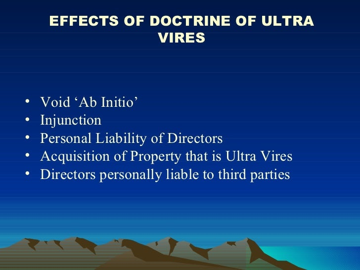 Doctrine of Ultra Vires in Public Law