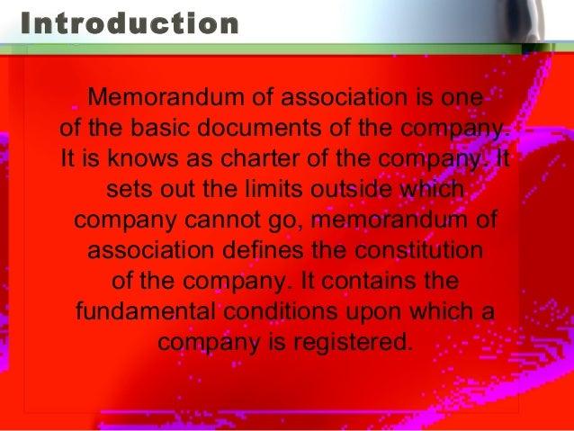 what are memorandum articles of association
