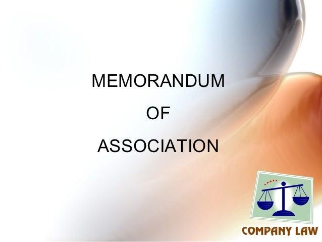 MEMORANDUM    OFASSOCIATION