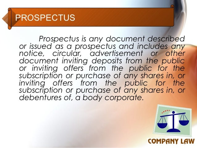 prospectus articles