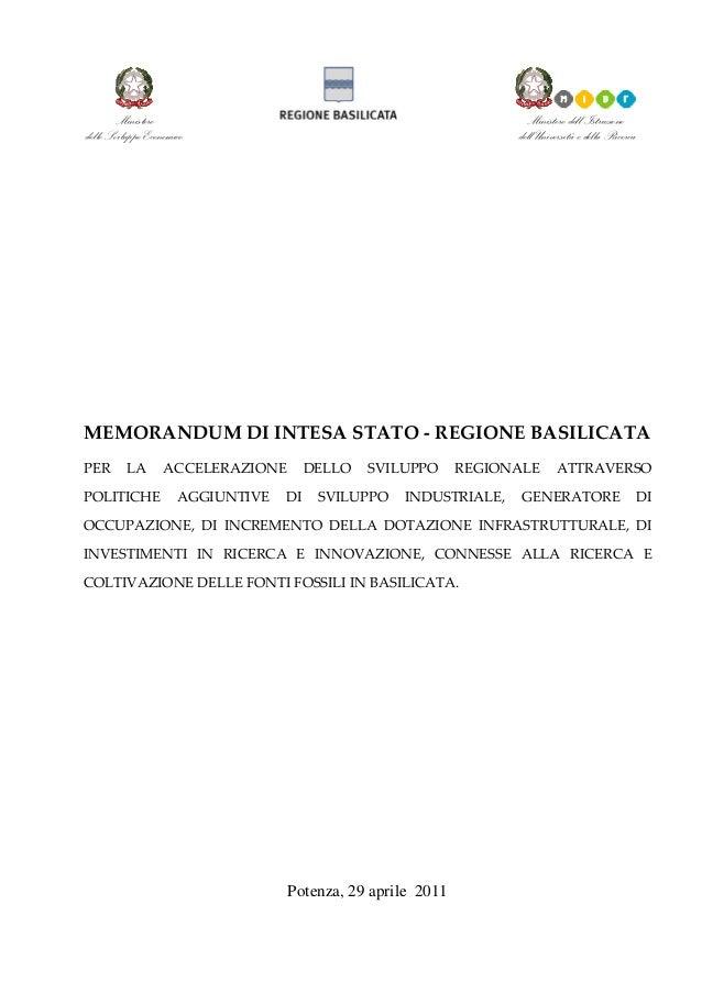 Ministero dello Sviluppo Economico  Ministero dell'Istruzione dell'Università e della Ricerca           MEMORANDU...