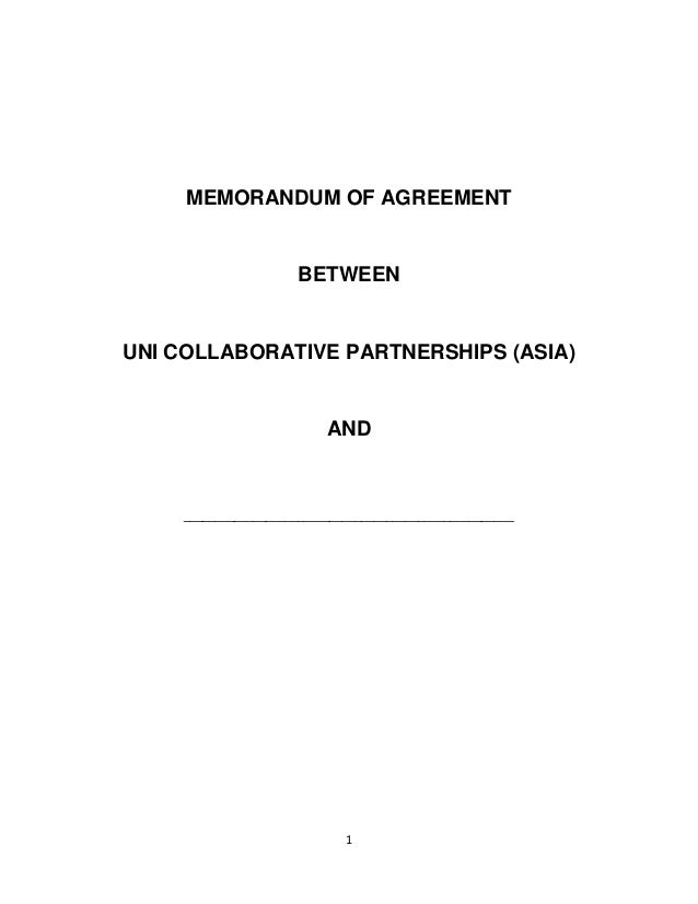 Ucp Marjon Uk Memorandum Of Agreement For Ucp Partners