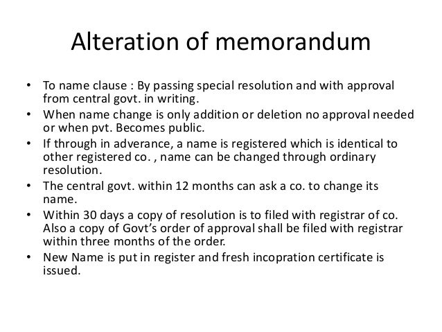 memorandum of association companies act 2013 ppt