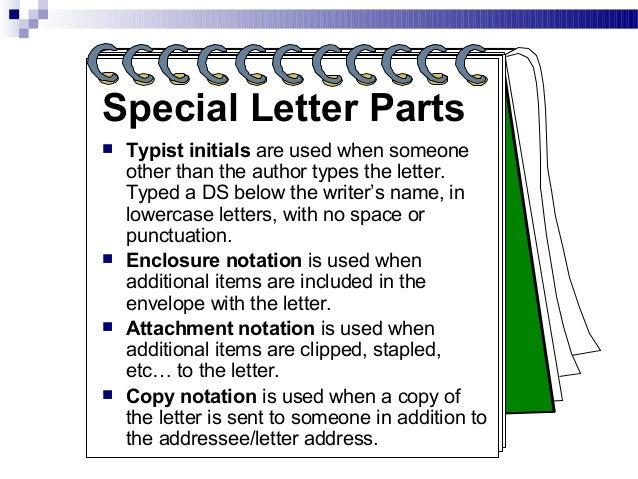 Memorandums and letters powerpoint 15 special letter parts typist spiritdancerdesigns Image collections