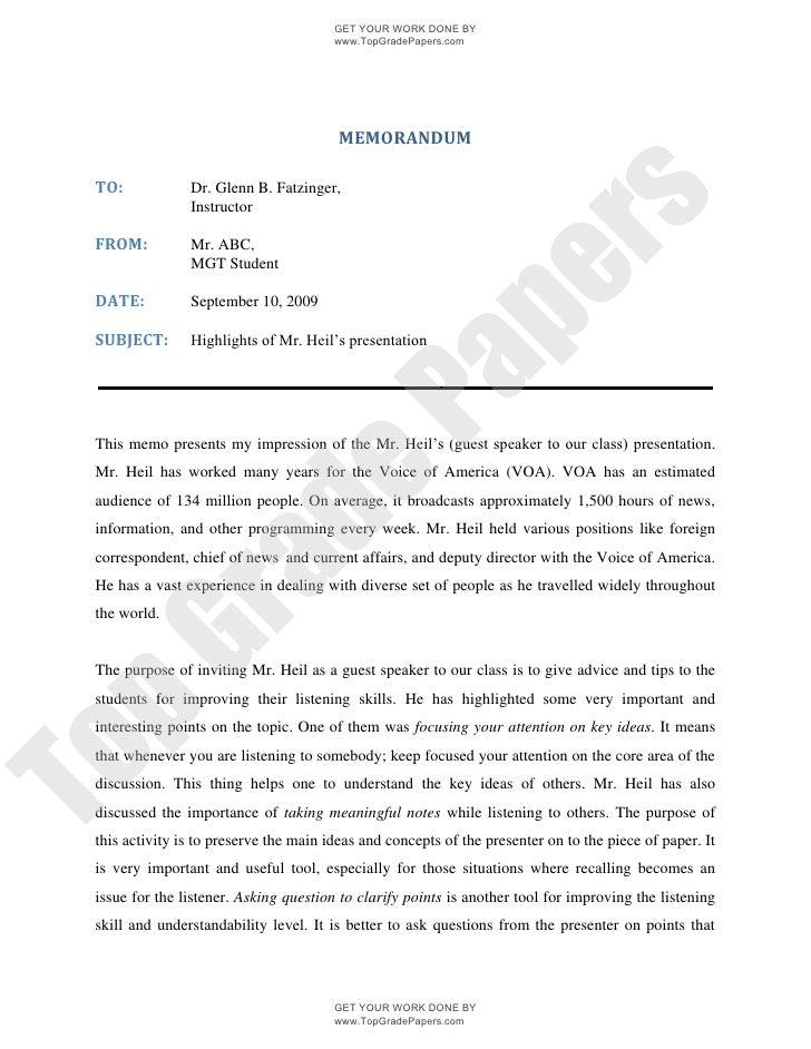 Memorandum international management associated essay
