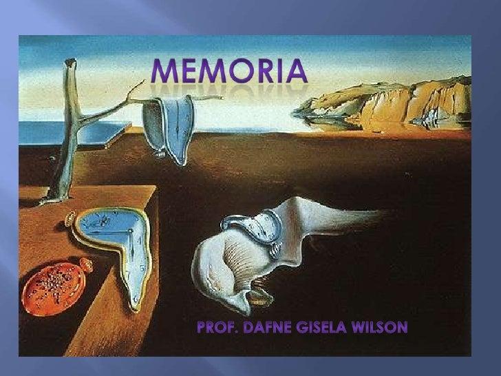 Memoria<br />                    Prof. Dafne Gisela Wilson<br />