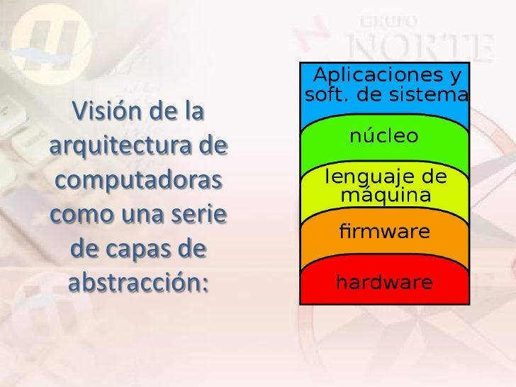 Visión de la arquitectura de computadoras como una serie   de capas de   abstracción: