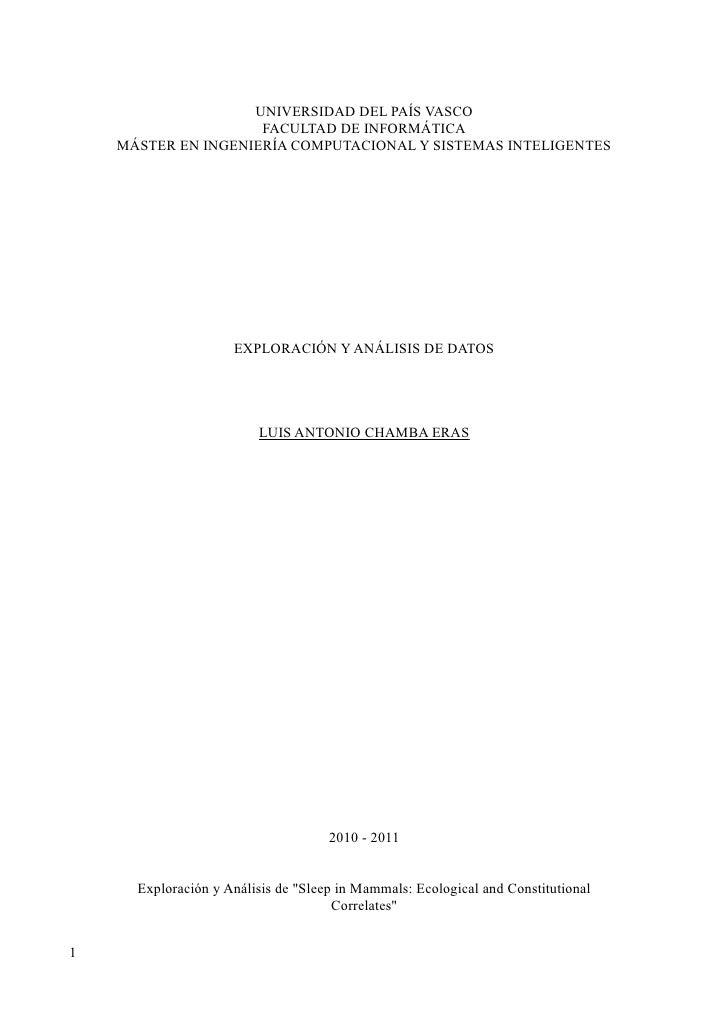 UNIVERSIDAD DEL PAÍS VASCO                  FACULTAD DE INFORMÁTICA MÁSTER EN INGENIERÍA COMPUTACIONAL Y SISTEMAS INTELIGE...