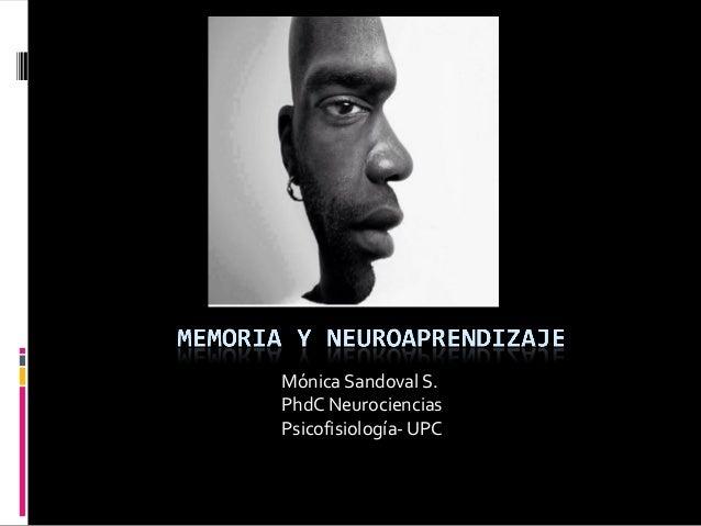 Mónica Sandoval S. PhdC Neurociencias Psicofisiología- UPC