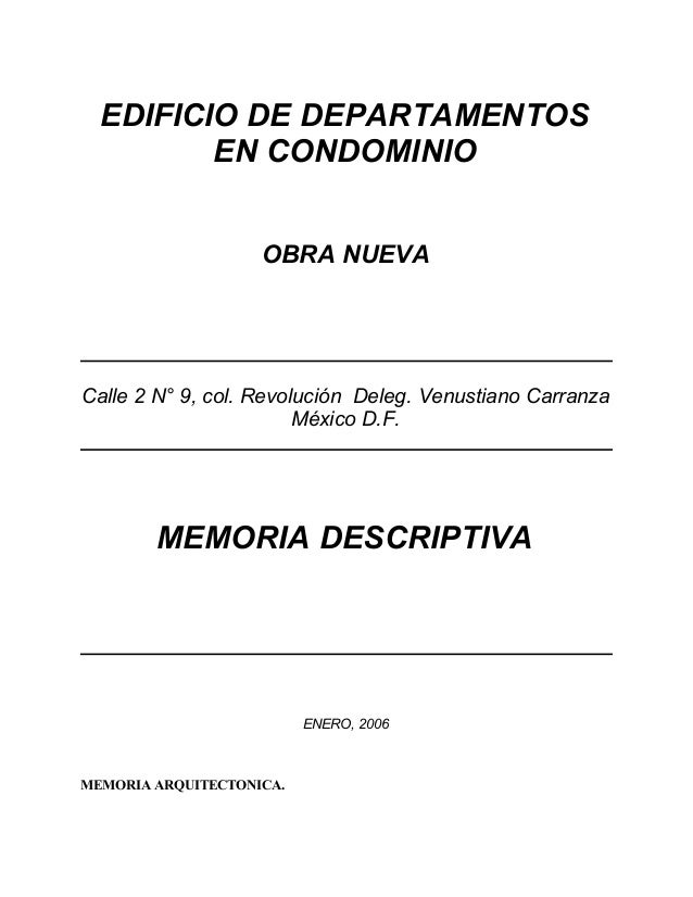 EDIFICIO DE DEPARTAMENTOS         EN CONDOMINIO                    OBRA NUEVACalle 2 N° 9, col. Revolución Deleg. Venustia...