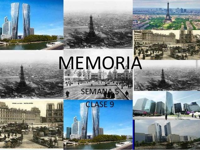 MEMORIA SEMANA 5  CLASE 9