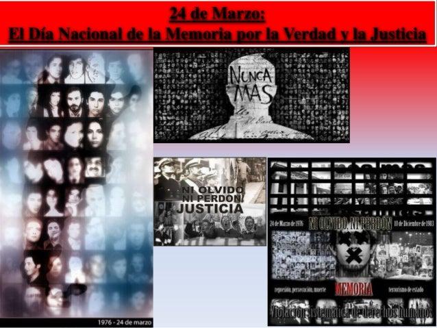 24 de Marzo:  El Día Nacional de la Memoria por la Verdad y la Justicia