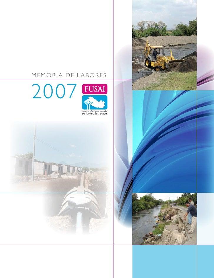 M EM OR I A D E L A BOR E S   2007