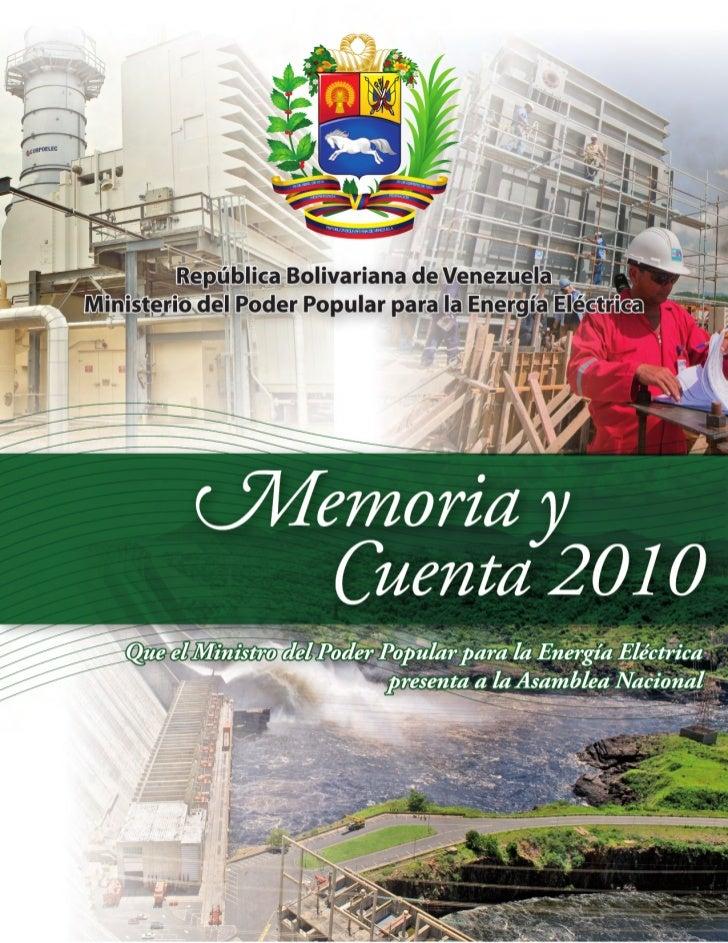 Ministerio del Poder Popular para la Energía EléctricaOficina de Planificación, Presupuesto y OrganizaciónCoordinación de ...