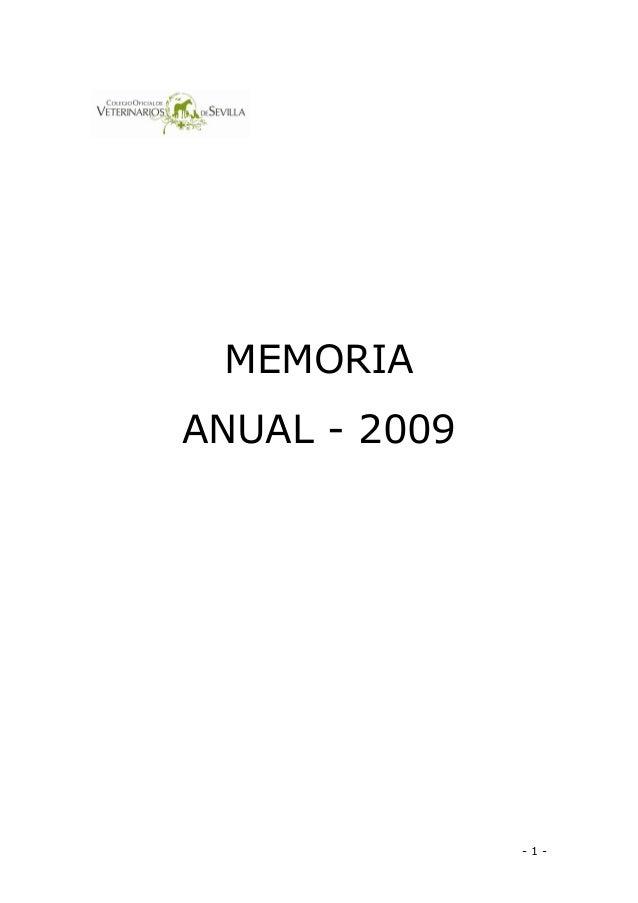 1 MEMORIA ANUAL2009