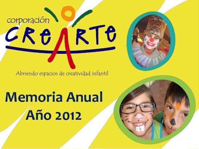 Memoria Anual Año 2012