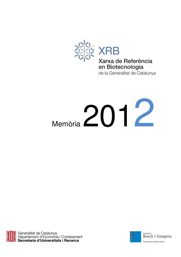 Memòria   2012
