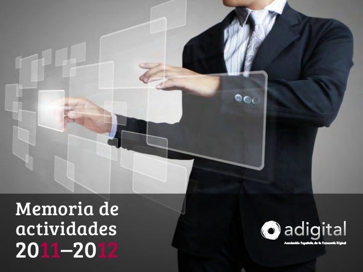 Memoria deactividades2011–2012memoria de actividades 2011-12                                 1