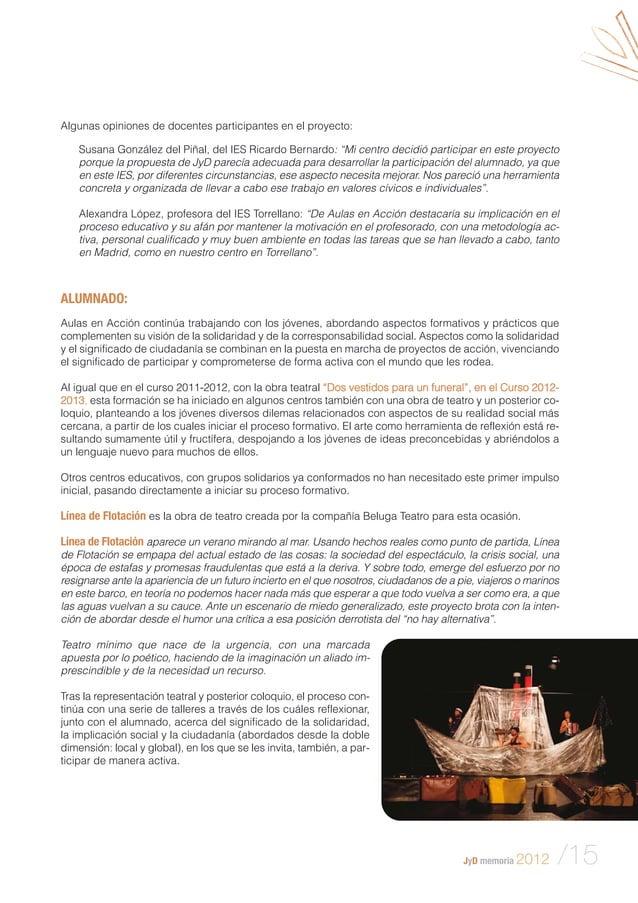 """Algunas opiniones de docentes participantes en el proyecto: Susana González del Piñal, del IES Ricardo Bernardo: """"Mi centr..."""