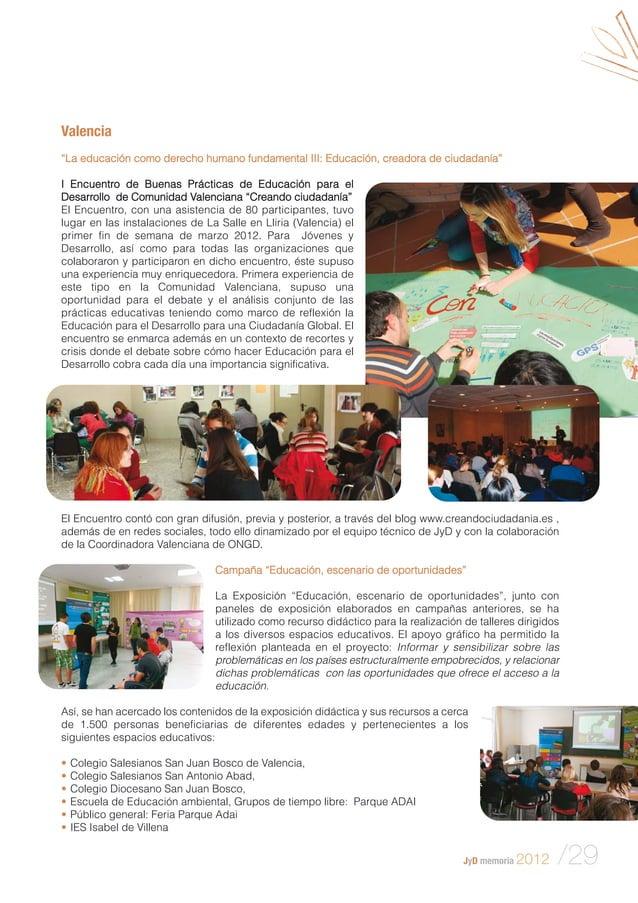 """Valencia """"La educación como derecho humano fundamental III: Educación, creadora de ciudadanía"""" I Encuentro de Buenas Práct..."""