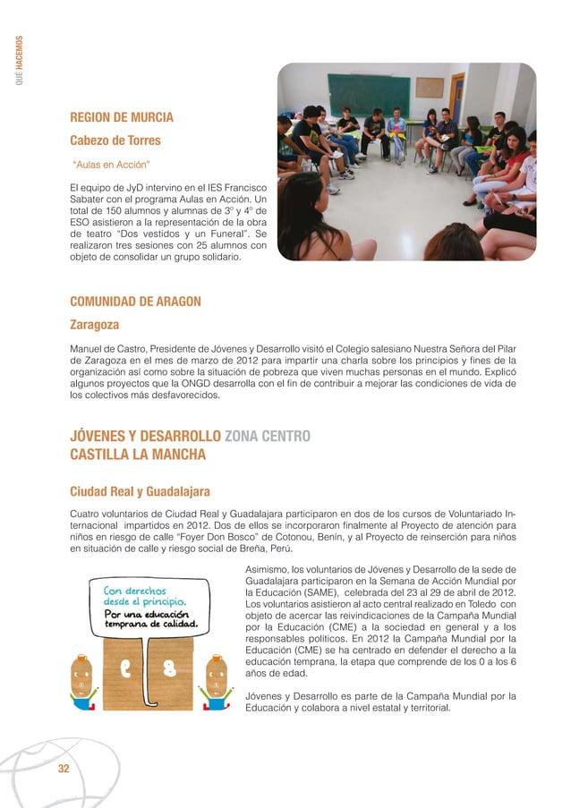 """QUÉHACEMOS 32 REGION DE MURCIA Cabezo de Torres """"Aulas en Acción"""" El equipo de JyD intervino en el IES Francisco Sabater c..."""