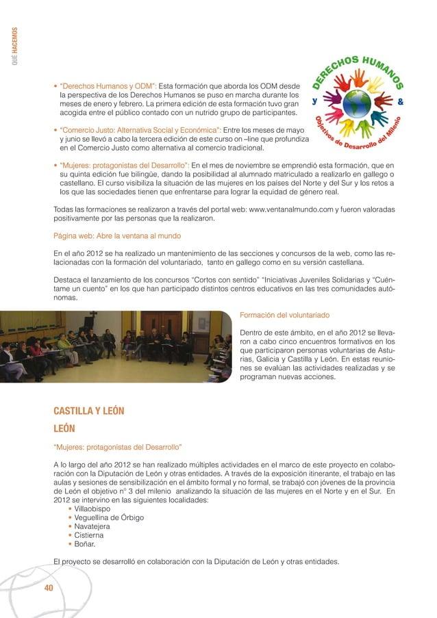 """QUÉHACEMOS 40 • """"Derechos Humanos y ODM"""": Esta formación que aborda los ODM desde la perspectiva de los Derechos Humanos s..."""