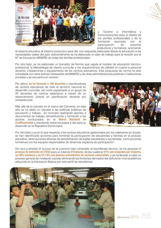 Memoria 2012 jóvenes y desarrollo