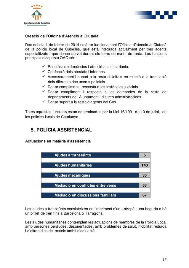 Policia local cubelles memoria 2014 for Oficina atencio al ciutada
