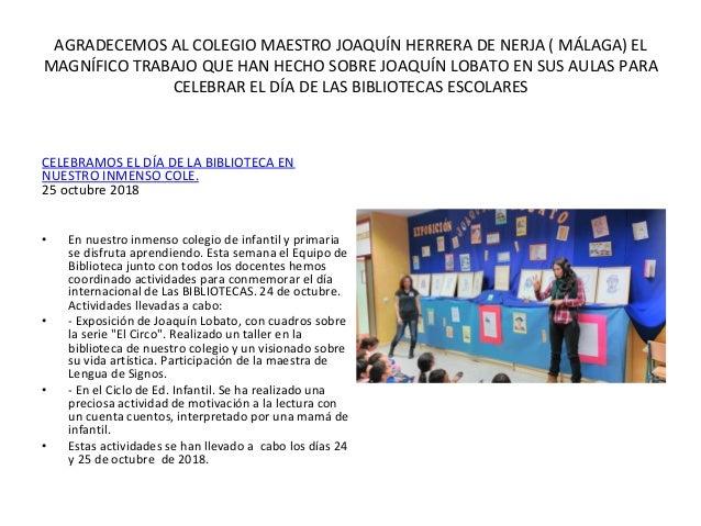 Asociación Amigos de Joaquín Lobato - Memoria 2018-2019  Slide 2
