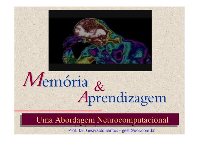 Uma Abordagem NeurocomputacionalUma Abordagem Neurocomputacional Prof. Dr.Prof. Dr. GesivaldoGesivaldo SantosSantos -- ges...