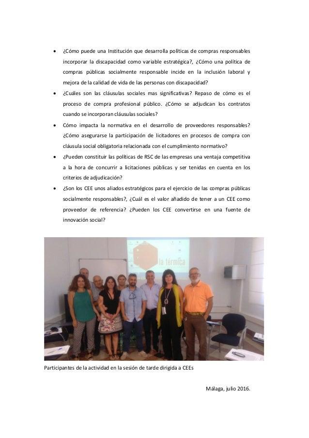 Memoria actividad formativa Diputación Málaga 23.06.2016  Slide 3