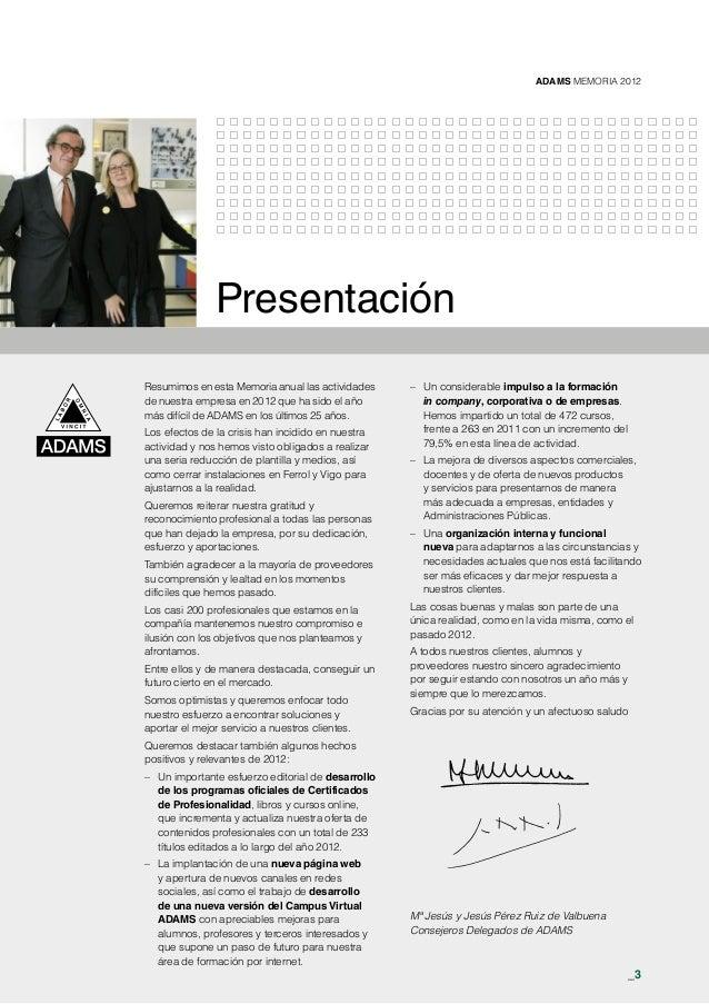 Memoria adams 2012