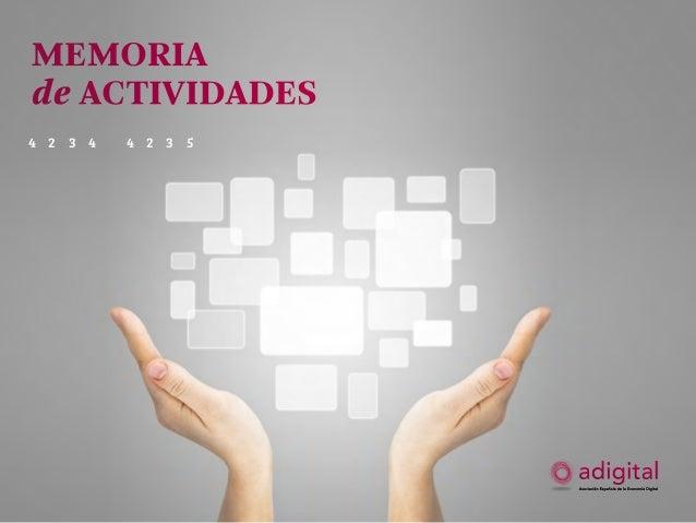 Memoria de actividades 2012–2013  memoria de actividades 2012-13  1