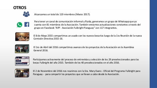 Memoria Asociación Fulbright Paraguay Abril 2015 A Marzo 2017