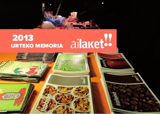 1. Ai Laket!! Jesusen Zerbitzarien fundatzailaren kalea 40, behea · 01001 Vitoria-Gasteiz · (+34) 945 23 15 60 · www.ailak...