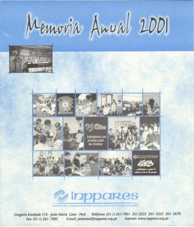 Memoria Anual Año 2001