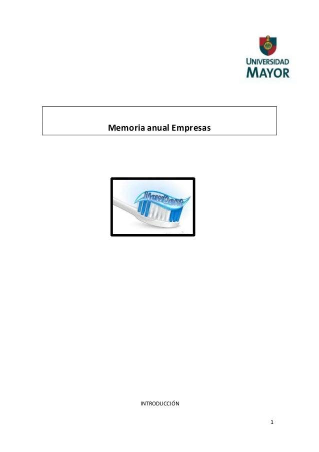 Memoria anual empresa 41607 for Memoria anual