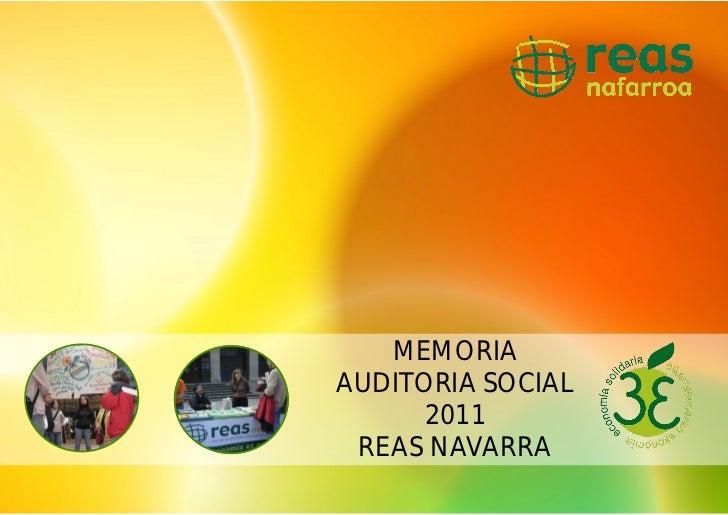 MEMORIAAUDITORIA SOCIAL      2011 REAS NAVARRA
