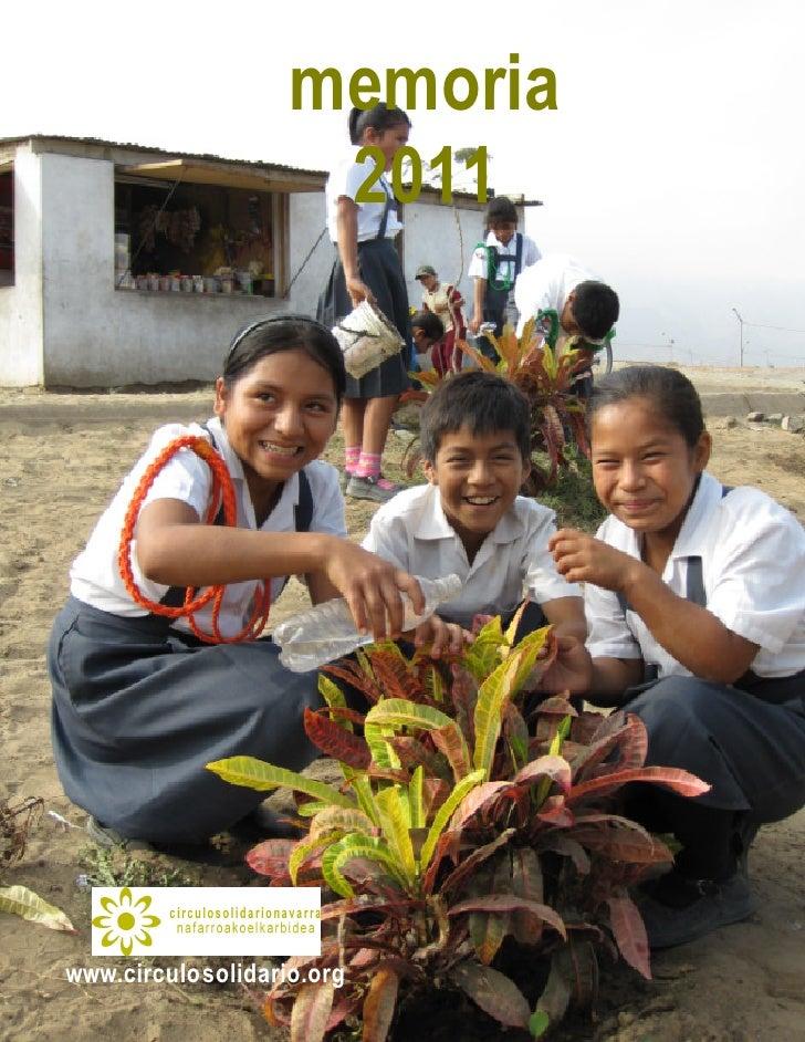 memoria                                              2011www.circulosolidario.org  memoria 2011 círculo solidario navarra ...