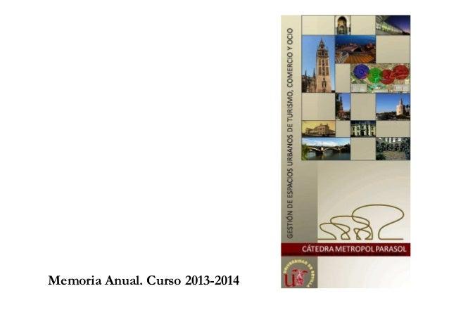 Memoria Anual. Curso 2013-2014