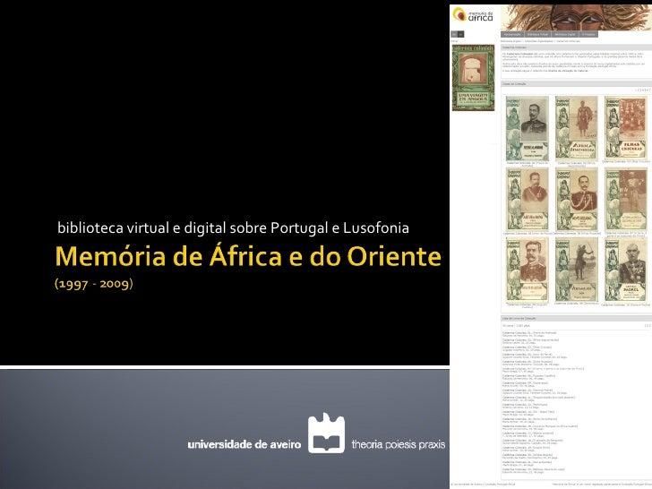 biblioteca virtual e digital sobre Portugal e Lusofonia