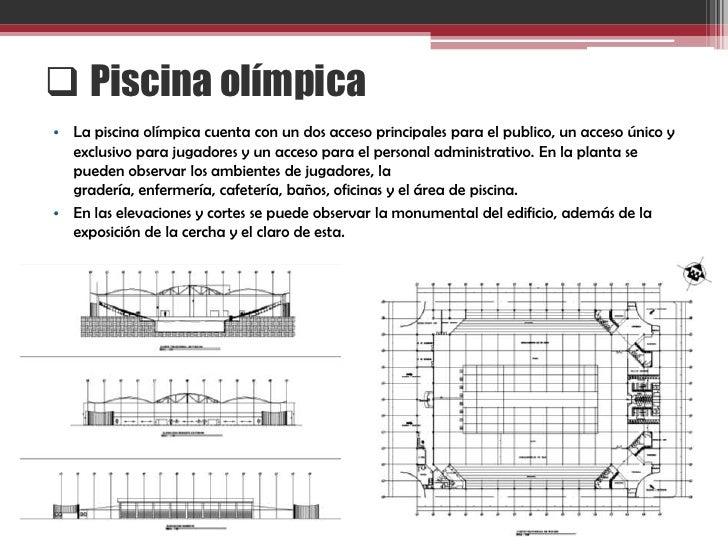 Proceso de dise o de polideportivo for Medida piscina olimpica