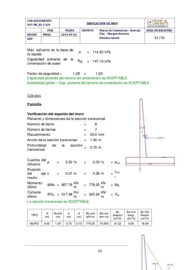 Calculo de estructuras de cimentacion calavera