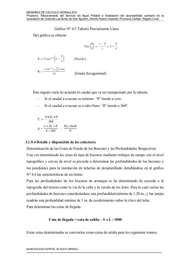 Memoria De Calculo Hidraulico 1