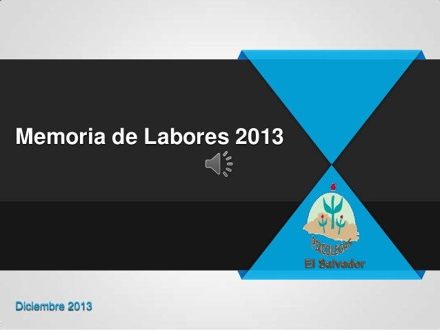 Memoria de Labores 2013  Diciembre 2013