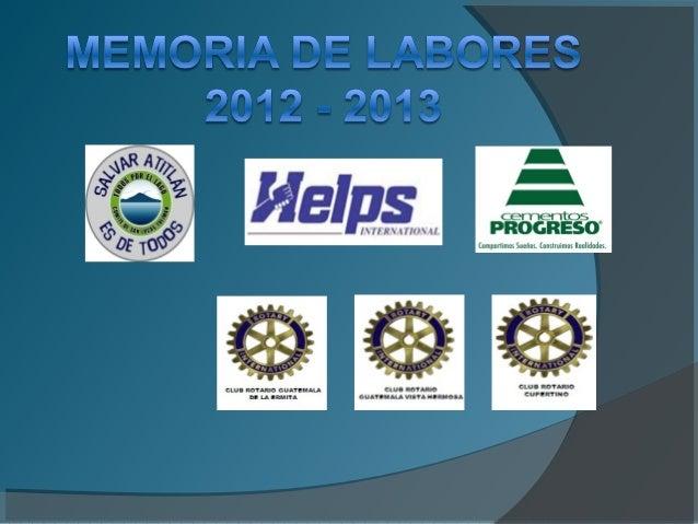  En el 2012 reforestamos 105,000 arbolitos. Las clases de árboles fueron las siguientes: Pino, Hilamo, Palo Colorado, Cip...