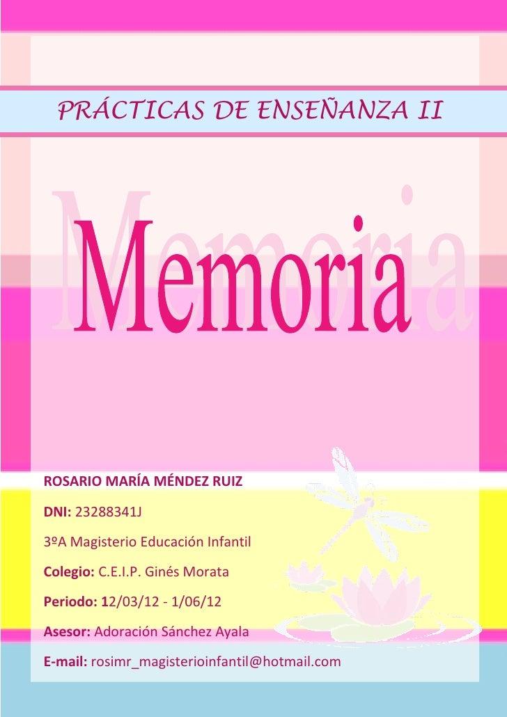 Memoria de pr cticas for Memoria descriptiva de un colegio