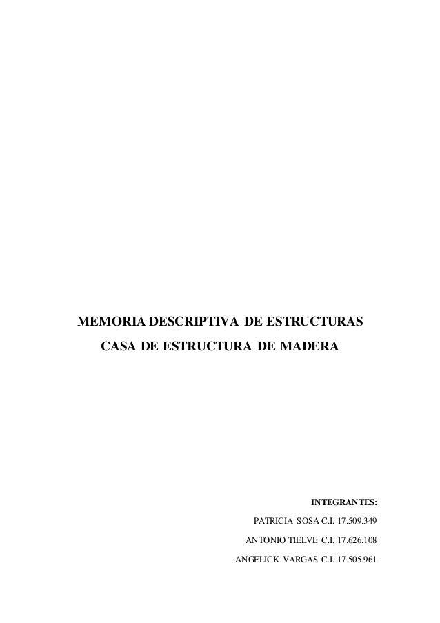 Memoria descriptiva estructura for Memoria descriptiva arquitectura