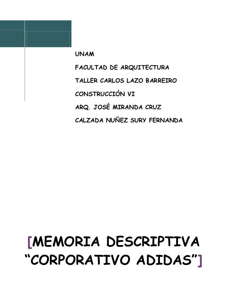 Memoria descriptiva corporativo for Memoria descriptiva arquitectura
