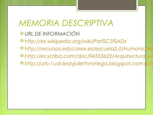 Memoria descriptiva semana 16 clase 31 paris barroco for Memoria descriptiva arquitectura